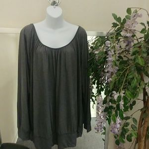 Lane Bryant Shimmery Knit Long Sleeve Top